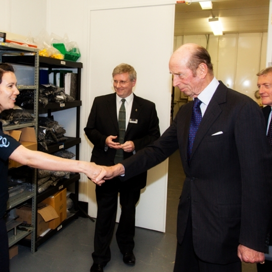 HRH Duke of Kent Queens Award for OpTek Systems