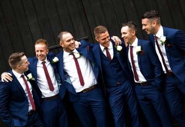 Weddings: Groom and best men