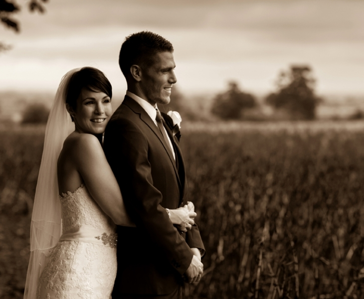 Weddings-Lains Barn couple