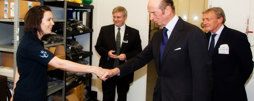 HRH Duke of Kent Queens Award for OpTek Systems