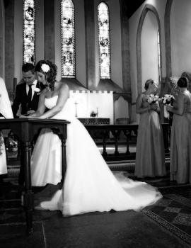 Wedding-All Saints Church Faringdon-Signing the Register
