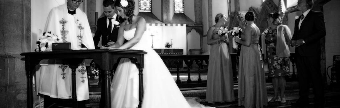 Wedding-All Saints Church Faringdon-Signing the Register